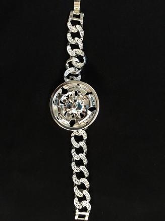 Silver Spinner Bracelet 21 5